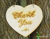 THANK YoU Rustic Wedding Sign  Wedding Gift Table Sign PHOTO PROP Large Heart Wooden Photobooth Props with Jute Twine