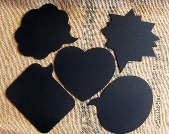 Chalkboard Photo Booth Props 5 Large Wooden Speech Bubbles, Heart and Bam Chalk Boards for Wedding Photos, Engagement, Pregnancy Pics
