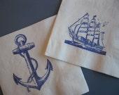 50 Paper Napkins Anchor Nautical Ahoy Its a Boy Nautical Baby Shower Decor Nautical Wedding Anchor It's A Boy Anchor