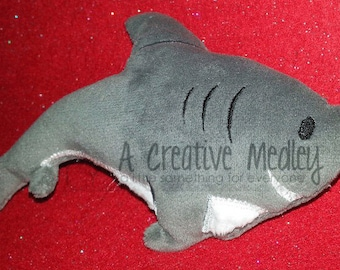 Stuffed plush toy shark Embroidery Design - Instant download
