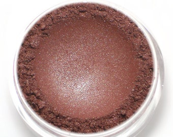 "Frosty Burgundy Red Eyeshadow - ""Roseberry"" - Vegan Mineral Eyeshadow Net Wt 2g Mineral Makeup Eye Color Pigment"