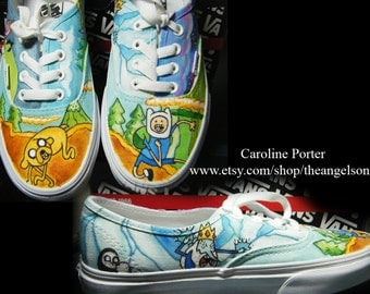 Adventure Time Custom Painted Shoes