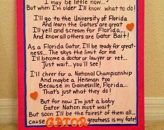 I'm A Florida Gator Baby Girl Canvas