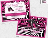 Girls Night Out Invitations, Bachelorette Party Invitations, Bridal Shower Invitation, Birthday Invitation, Adult Invitation, Invitations