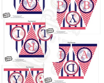 Instant Download - Sailor Birthday Banner