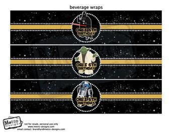 Star Wars Water Labels