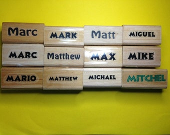New Unused First Name Rubber Stamps--Male Version Letter 'M'--sold separately--free shipping US
