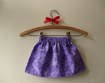 Purple Dragonfly Childrens Skirt - Elastic Waist - Baby/Toddler/Girls - Made to Oder