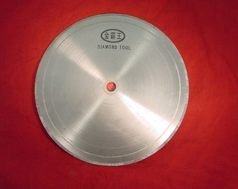 """20"""" New notched rim diamond lapidary saw blade for trimming and slabbing 1, 3/4  arbor"""
