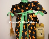 Witch Ball Gown, Halloween Decorations, Primitive Country Decor, Halloween Make Do,