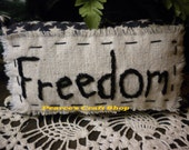 "Pillow Tuck Patriotic Americana ""Freedom"" Stitched"