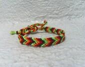 Fall Friendship Bracelet with Neon