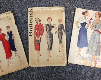 Women's Vintage Butterick and McCall's Sewing Patterns