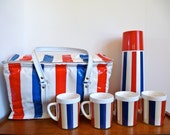 Vintage Thermo Serv Thermos Cooler Set