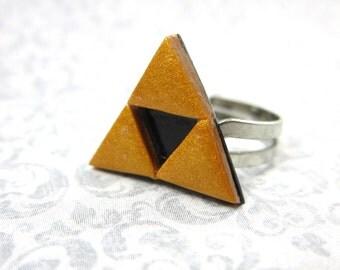 Legend of Zelda Triforce ring- gold or silver