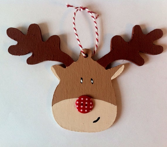 Paint your own wooden Christmas decoration Kit, Reindeer