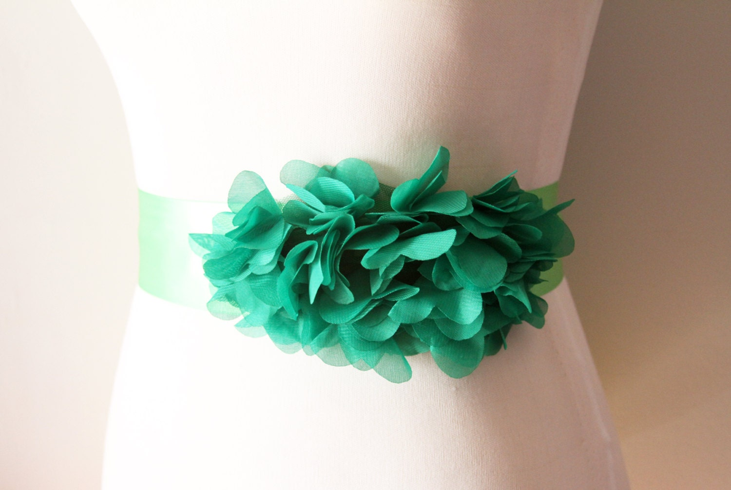 Wedding Sash Belt Bridal Sash Belt Green Wedding Dress