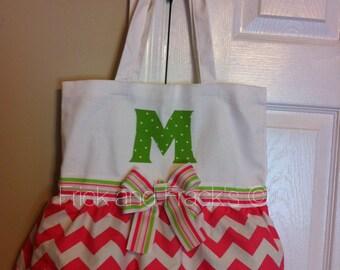 White, Pink and Green Dance Bag, Tutu Bag, Dance Bag for Girls, Baby, Toddler, Ballerina Bag, Ballet Bag, Gymnastics Bag, Cheer Bag