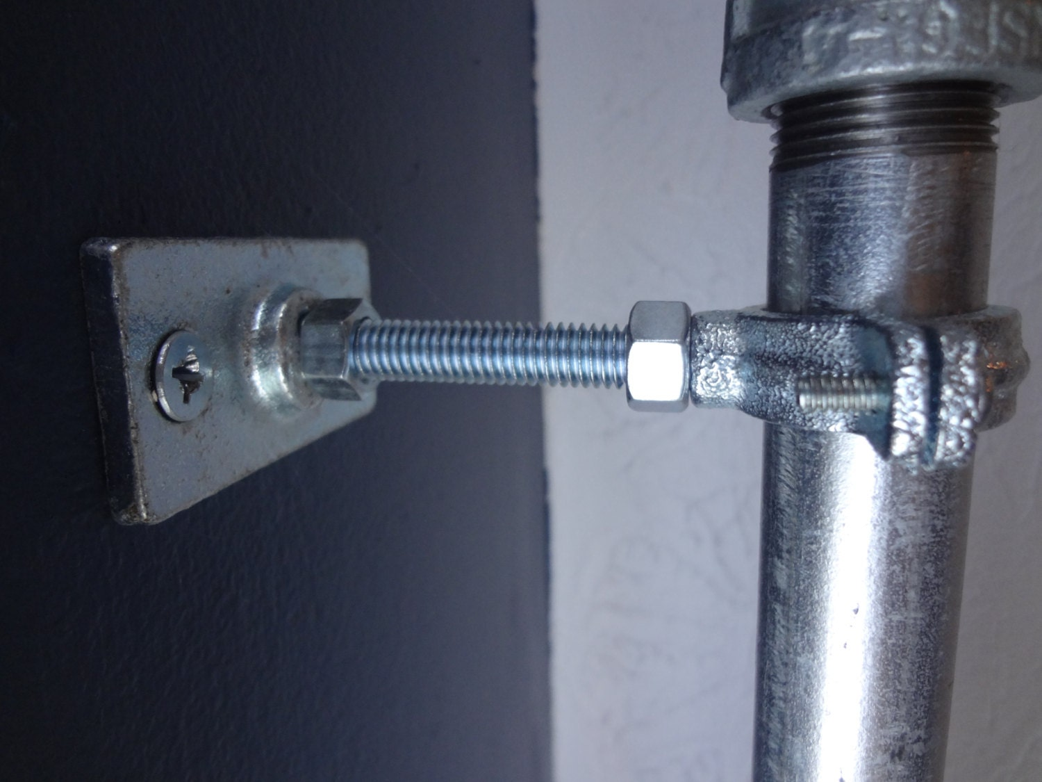 Industrial Curtain Rod Holders 2 Sets