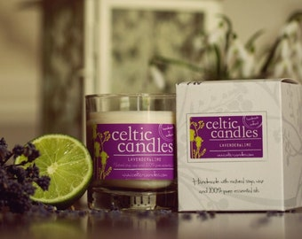 Lavender & Lime Essential Oil Candle - Medium