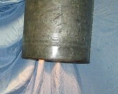Vintage gas can, Pendant lighting, upcycled lighting, re-used can, vintage, antique gas can, silver and grey