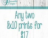"""Any Two 8x10"""" Wall Art Prints by Decorable Designs"""