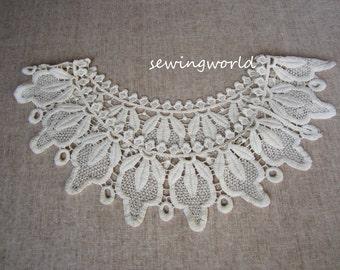 Cream Lace Collar Necklace