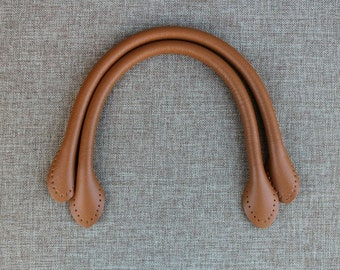 Tan Color Leather Bag Handles Purse Making, 1 pair