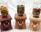 Hand-made Wooden Candy Dispenser - M&M Peanut Skittles Snack - Wood Candy Dispenser