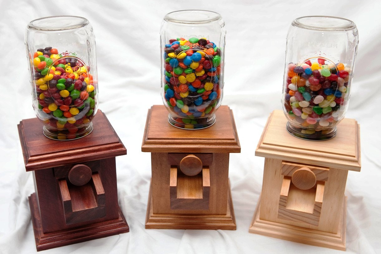 Hand made Wooden Candy Dispenser MampM Peanut Skittles Snack
