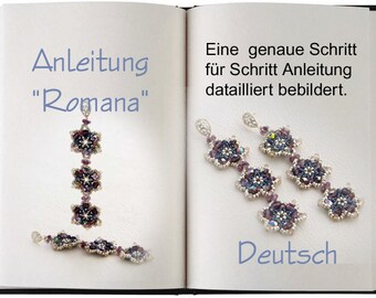 Jewelry tutorial .... Romana...Anleitung in Deutsch / German.  Ohrringe romantisch zeitlos.
