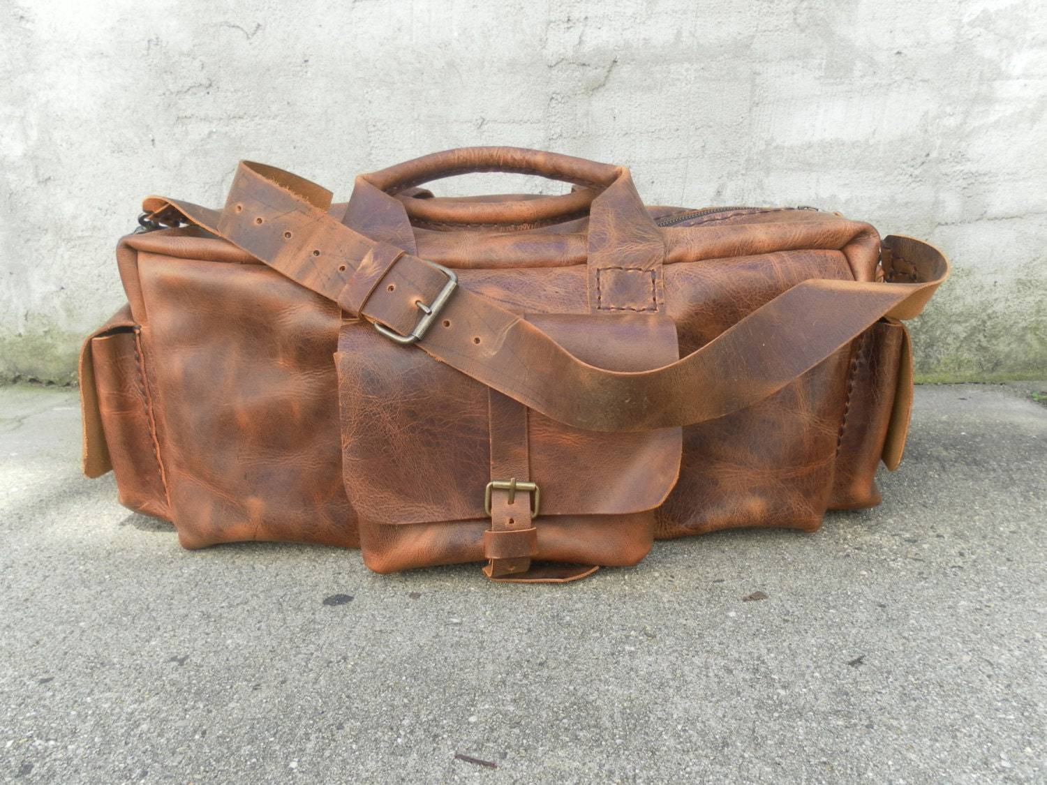 Leather Duffel Travel Bag,Men Duffel Bag/Leather Travel Bag,Travel ...