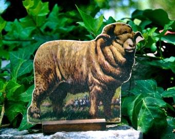 1930's Antique Die Cut Cardboard Standing Lithograph Merino Ram