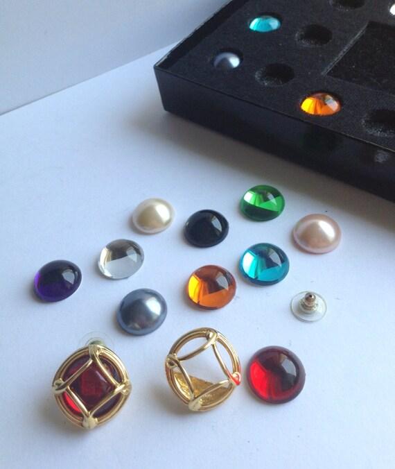 Interchangeable Pierced Earrings Joan Rivers Classic