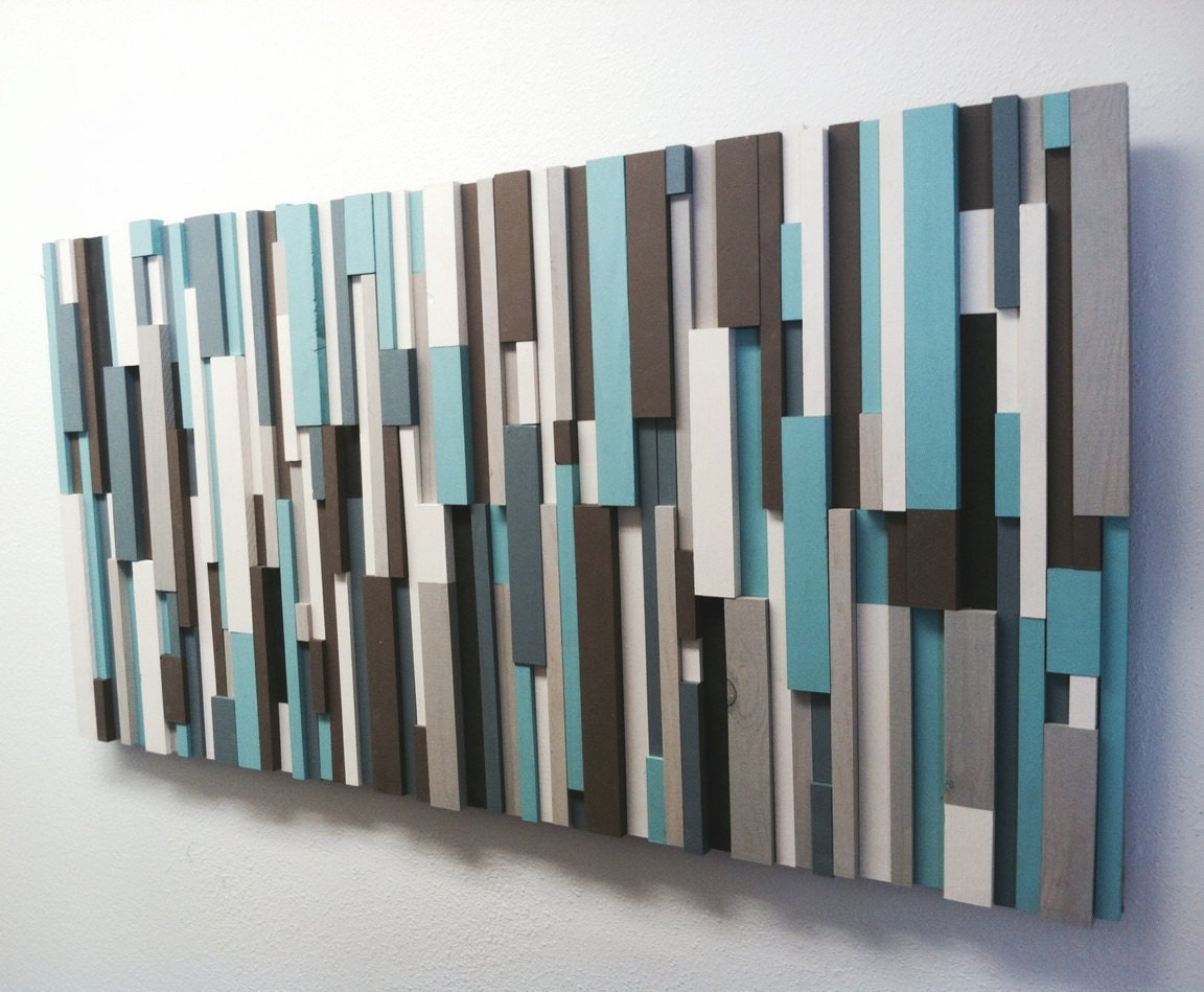 30 off modern wood art cottage chic wood strip artwork zoom amipublicfo Choice Image