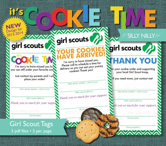 Items Similar To Girl Scout Cookie Sales Tags Automatic