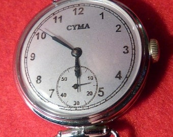 "Antique, Early 1900's, CYMA ""Trench Watch"", Excellent Condition"