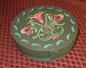 Handpainted Round Bentwood Box