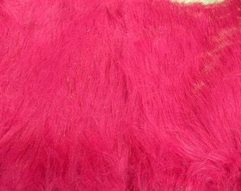 Half Yard Hot Pink Sparkle Fur Shag