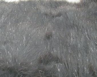 Half Yard Sparkle Fur Grey Shag