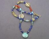 Necklace-Gold Necklace-Gemstone Necklace-Gold Jewelry-Gemstone Jewelry-Colorful Necklace-Chrysophrase-Carnelian-Aventurine Necklace