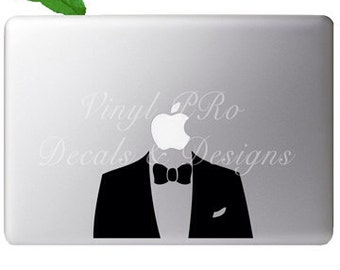 Suit and Tie Tuxedo Dapper Swagger Dress Fashion Night Out Sharp Dressed Decal for Macbook
