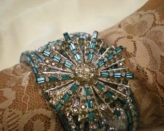 Wedding  Blue.........One Of A Kind Cuff Bracelet