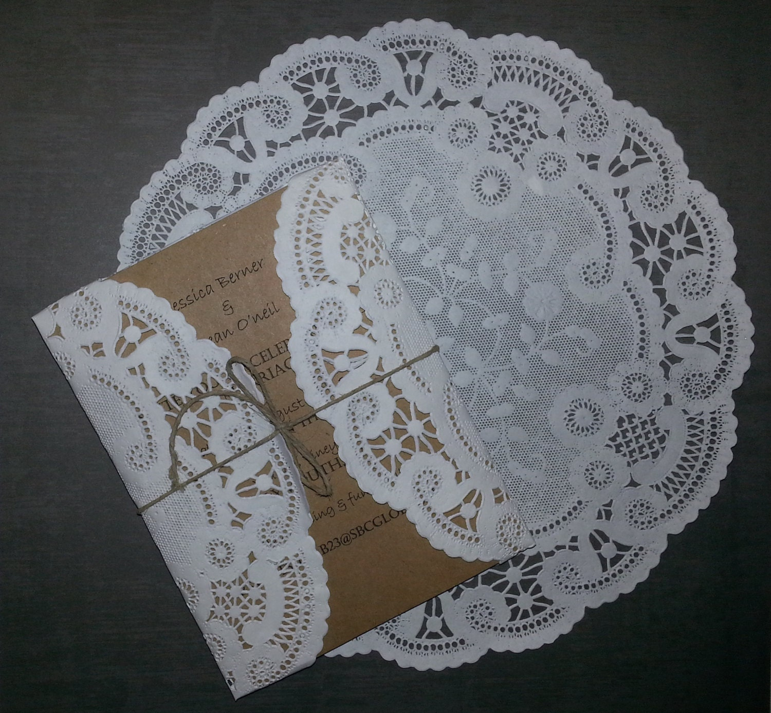 graduation gift ideas using pictures - 50 White round circular 8 or 10 inch French Lace Paper Doilies