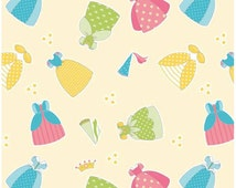Happy Dresses Yellow, Fat Quarter Cut, Happily ever after,  Riley Blake Designs