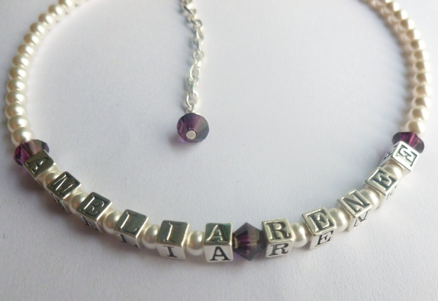 Baby Girl Gift Baby Name Bracelet Sterling by ...   Personalized Baby Jewelry For Girls