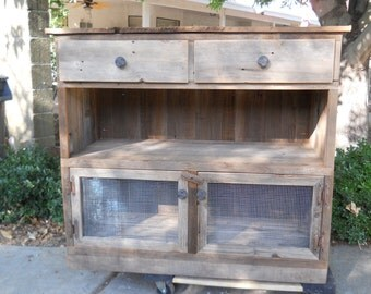 reclaimed hutch