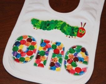 Very Hungry Caterpillar ONE and Caterpillar bib