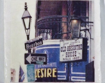 Bourbon Street French Quarter New Orleans Coaster