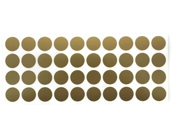 0.75in round vinyl stickers (dots) - sets of 40
